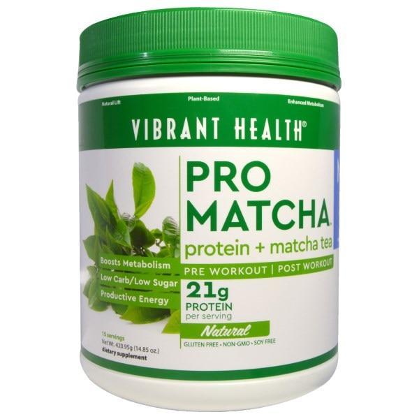 Vibrant Health, Pro Matcha, протеин + матча чай, натуральный, 14,85 унций (420,95 г)