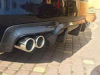 Диффузор юбка тюнинг обвес BMW F10 M Sport (стекловолокно)