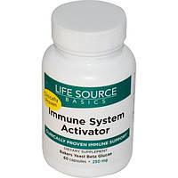 Life Source Basics (WGP Beta Glucan), Активатор иммунной системы, 250 мг, 60 капсул