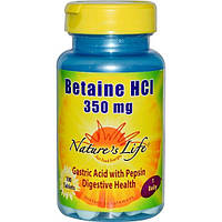 Natures Life, Betaine HCI, 350 mg, 100 Tablets