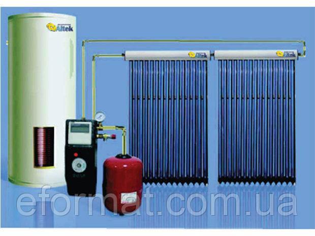 Всесезонная гелиосистема на основе трубчатого коллектора 150 л/сутки