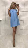 Платье женское с бенгалина  Angel , голубое ! , фото 1