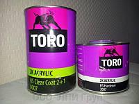 Toro Лак акриловый 8007 HS Clear coat 1л+0,5л