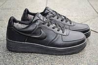 Кроссовки женские Nike Air Force черные зимние 2196 37