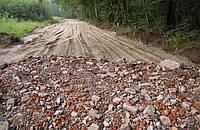 Отсыпка дорог вторичным щебнем, строительным боем, грунтом, битым кирпичем и бетоном.