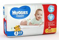 Подгузники HUGGIES classic 3 (4-9 кг) 58 шт