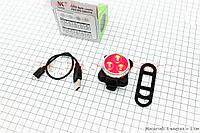 Велогабарит, Фонарь задний 3 диода 10 lumen, зарядка от USB, HJ-030