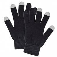 Перчатки женские сенсорные чёрные