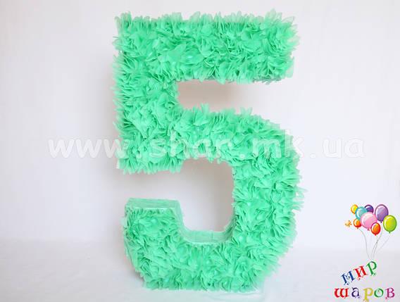 """Декоративна цифра """"5"""" ручної роботи, фото 2"""