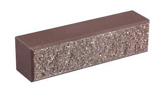 Облицовочный кирпич LAND BRICK колотый коричневый 250х60х65 мм