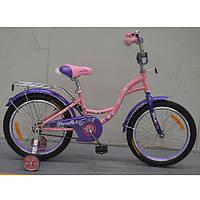 Двухколесный велосипед PROFI 16 дюймов G1621 Butterfly розовый