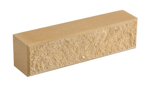 Облицовочный кирпич LAND BRICK колотый слоновая кость 250х60х65 мм