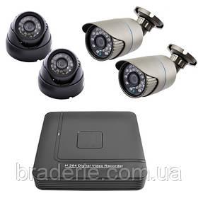 Комплект видеорегистратор+камеры KN1004DP