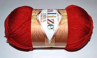 Летняя стрейчевая пряжа Alize Diva Stretch 106 красный
