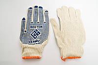 Перчатки х/б белые с ПВХ Точкой