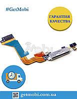 Шлейф для iPhone 4G коннектор зарядки c компонентами белый