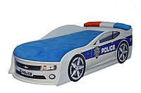 Кроватка- машина с матрасом Камаро-полиция