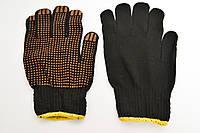 Перчатки синтетические Черные с ПВХ Точкой