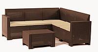 Комплект садовой мебели Set Neraska Corner коричневый с подушками