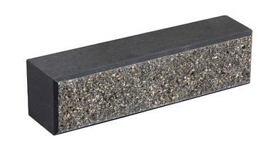 Облицовочный кирпич LAND BRICK колотый черный 250х60х65 мм