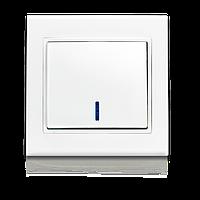 Выключатель одноклавишный с подсветкой ERSTE THEME 9209-01N белый