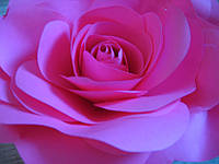 Роза из бумаги. Диаметр 20-30 см