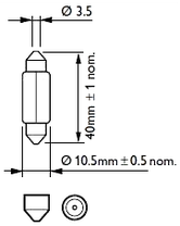 Светодиодная  лампа SLS LED  под цоколь SV8,5(C5W) 39mm 9-5630 Белый, фото 3