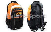 Моторюкзак с местом под питьевую систему KTM MS-5021 (PL, р-р 45х25х12см, черный-оранжевый)