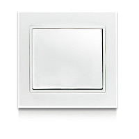 Переключатель одноклавишный (проходной)  ERSTE THEME 9209-31 белый