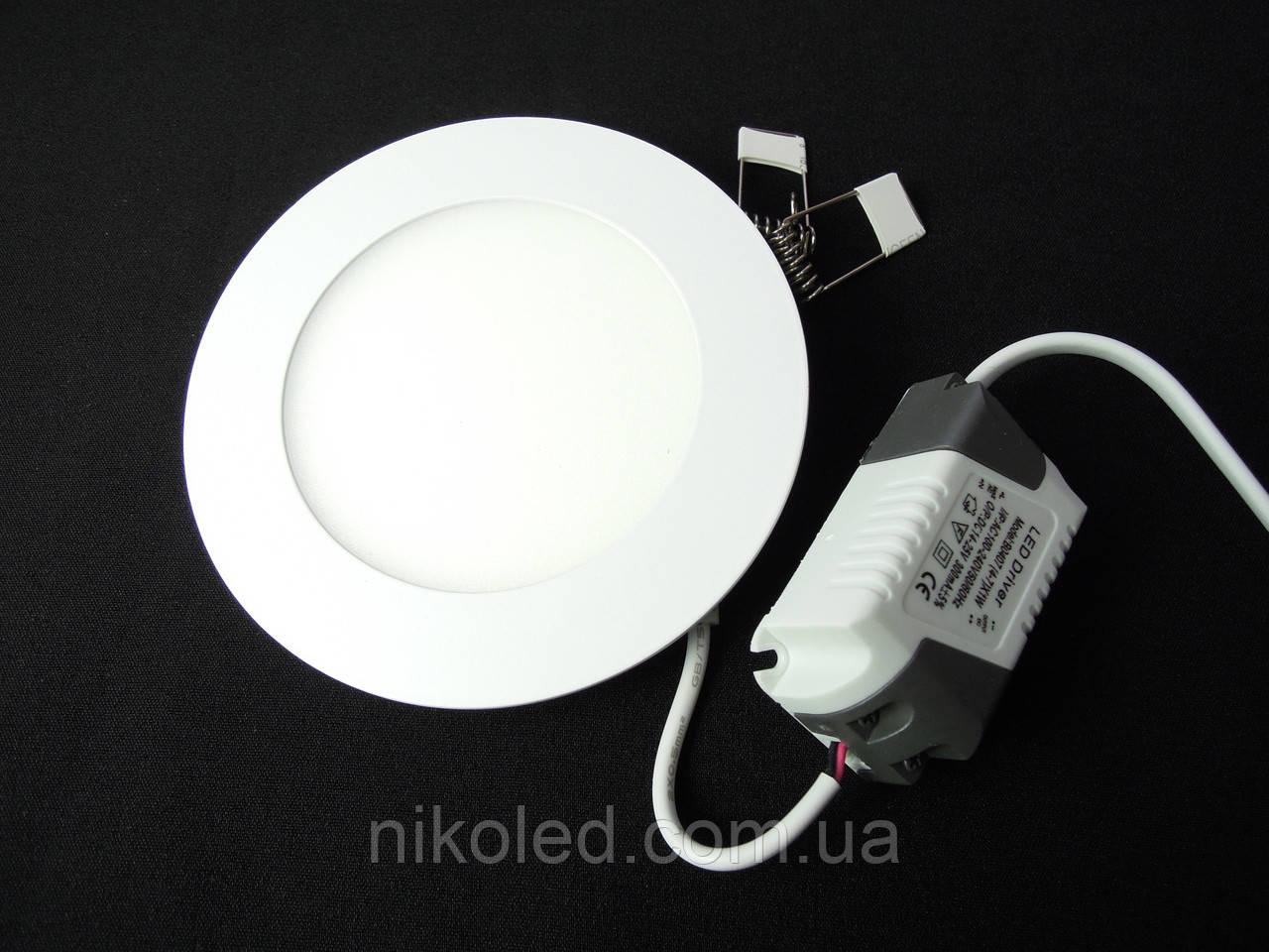 Светильник точечный Slim LED 6W круг