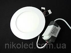 Светильник точечный Slim LED 6W круг 4000К,3000К