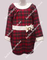 Нарядное детское платье в клетку 01253