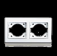 Рамка двойная для розеток и выключателей  ERSTE THEME 9209-82 белая