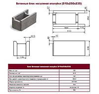 Несъемный блок опалубка бетонная 250 мм