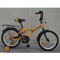 Двухколесный велосипед PROFI 16 дюймов G1634 Racer желтый