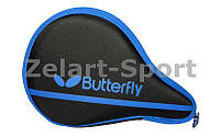 Чехол на ракетку для настольного тенниса BUTTERFLY 62140177 NAKAMA (PL, черно-синий, р-р 30х3х19см)