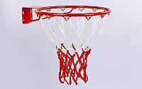 Сетка баскетбольная C-5643 (полиэстер, 12 петель, цвет бело-красно-синий, в компл. 2 шт.)