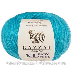 Пряжа Gazzal Baby Wool XL Бірюзовий