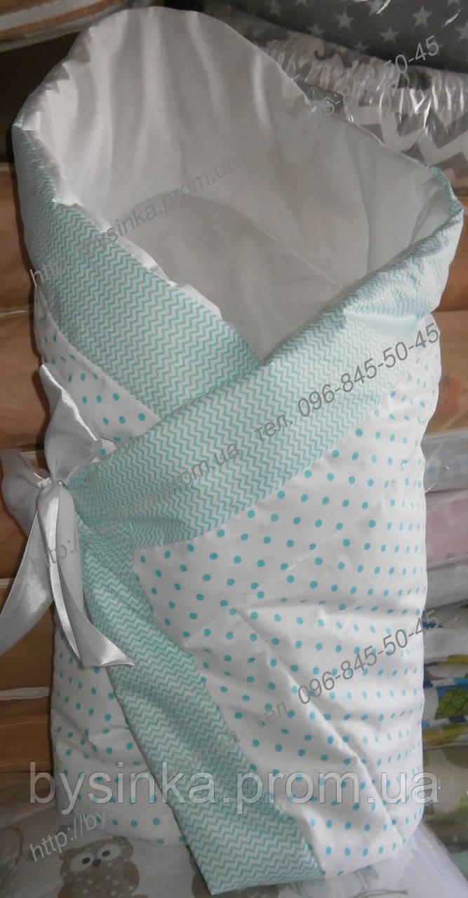 Конверт на выписку Деми(весна осень) Зима одеяло детское 90х90см. легкое не аллергенное весна осень