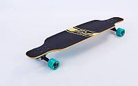 Лонгборд деревянный профессиональный из канадского клена 41in фрирайд SK-415-4 (черный-мятный)