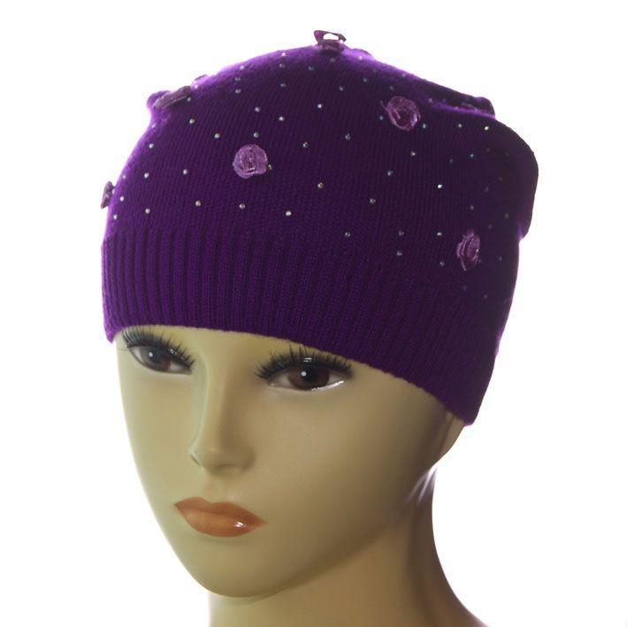 Шапка DD1622V фиолетовый