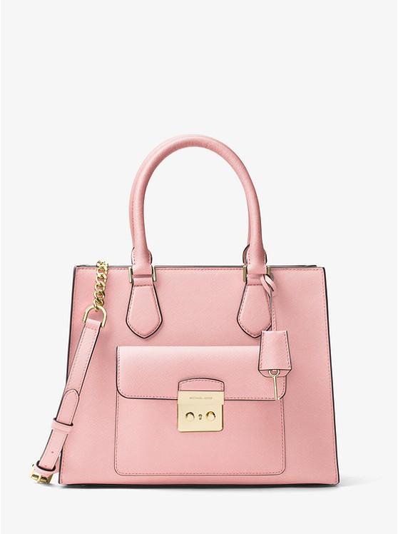 Сумка Michael Kors Bridgette Medium Saffiano Leather Tote pink 30T7GBDT2L