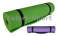 Каремат туристический Пенополиэтилен односл. 7мм UR TY-4661 (р-р 1,5х0,5мх0,7см, фиолет, зелен.)