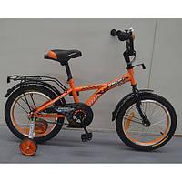 Двухколесный велосипед PROFI 16 дюймов G1635 Racer оранжевый