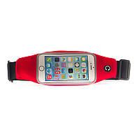 Неопреновая сумка для телефона (на пояс) 5.0 дюймов        Красный