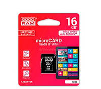 Карта памяти microSD 16 ГБ 10 класс