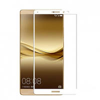 Защитное стекло CP+ на весь экран (цветное) для Huawei Mate 8            Белый