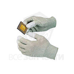 Goot WG-3S Антистатические перчатки с полеуретановыми пальцами (65х185мм)