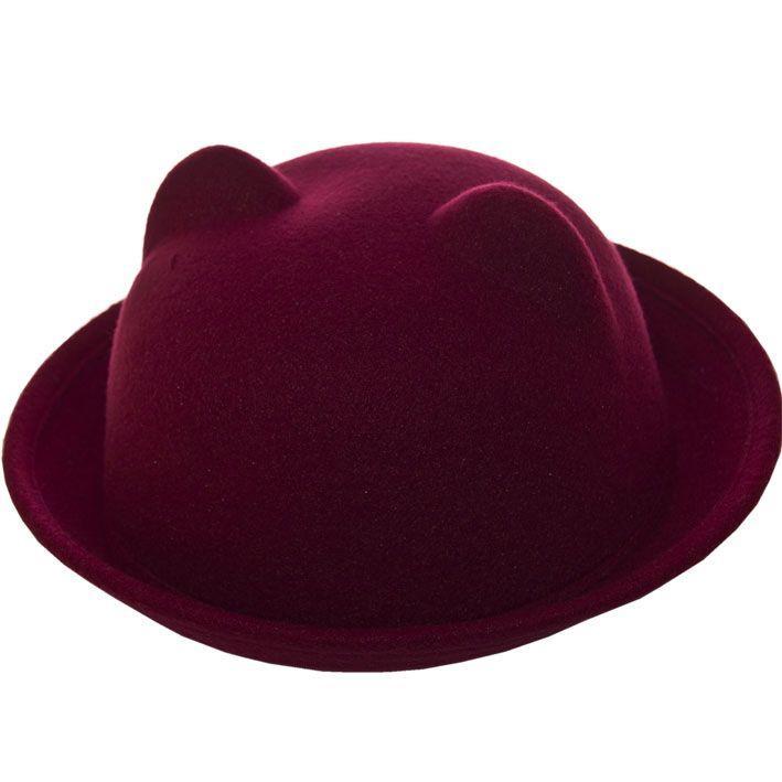 Шляпа фетровая F16001 бордовый