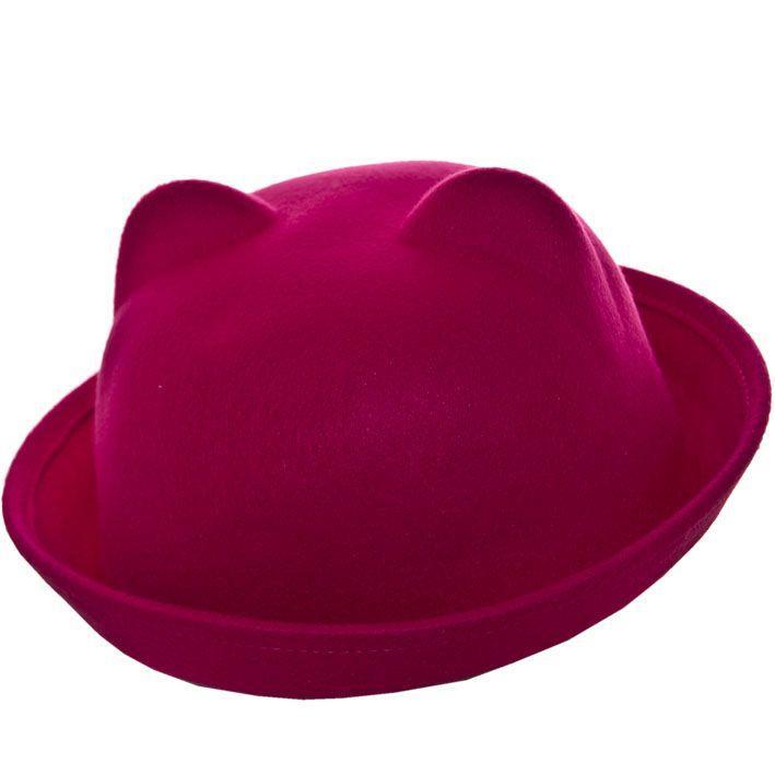 Шляпа фетровая F16001 малиновый